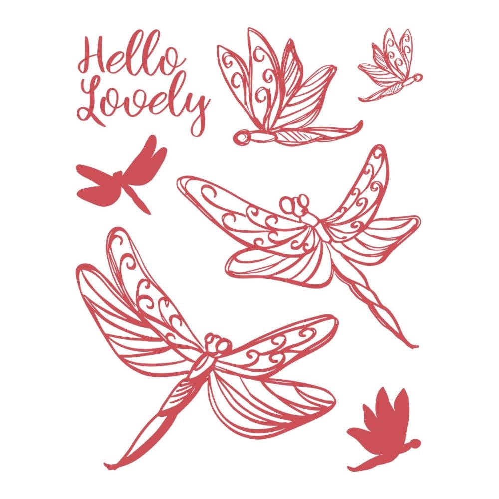 Couture Creations LOVELY DRAGONFLIES Clear Stamp Set co727716 zoom image