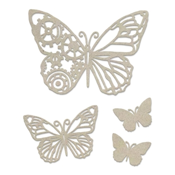 Couture Creations STEAMPUNK BUTTERFLY Chipboard co727732*