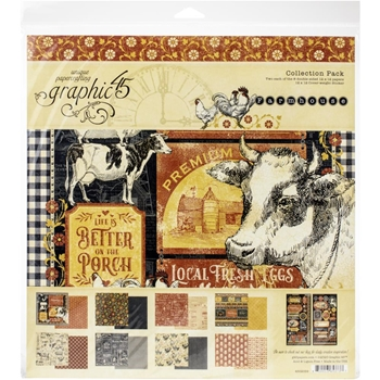 Graphic 45 FARMHOUSE 12 x 12 Paper Pad 4502059