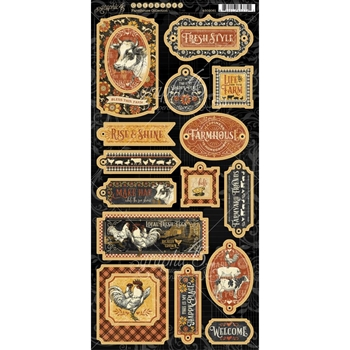 Graphic 45 FARMHOUSE Chipboard 4502061