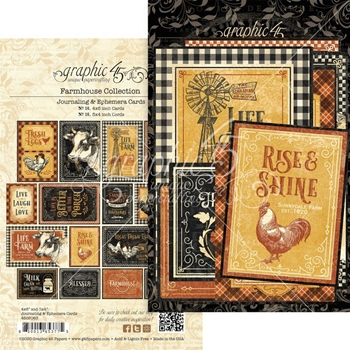 Graphic 45 FARMHOUSE Journaling And Ephemera Cards 4502063