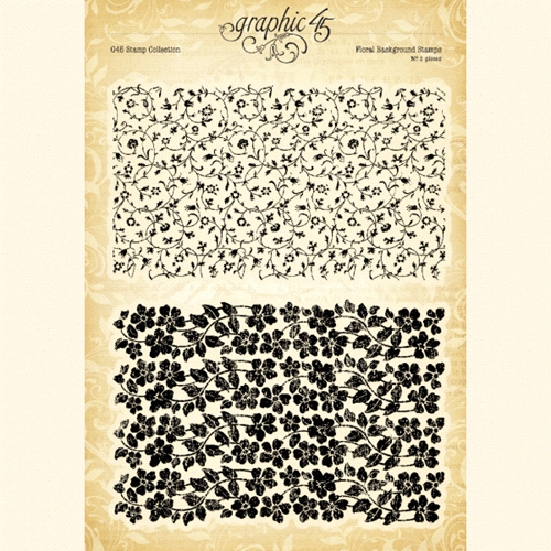 Graphic 45 FLORAL BACKGROUND Clear Stamp Set 4501986 Preview Image
