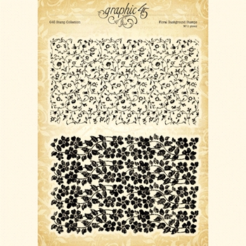 Graphic 45 FLORAL BACKGROUND Clear Stamp Set 4501986