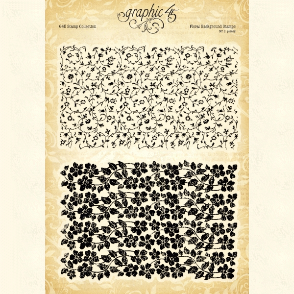 Graphic 45 FLORAL BACKGROUND Clear Stamp Set 4501986 zoom image