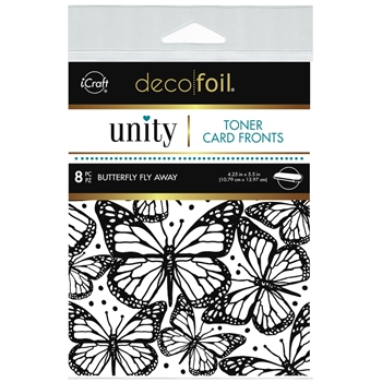 Therm O Web Unity BUTTERFLY FLY AWAY DecoFoil Toner Card Fronts 19047