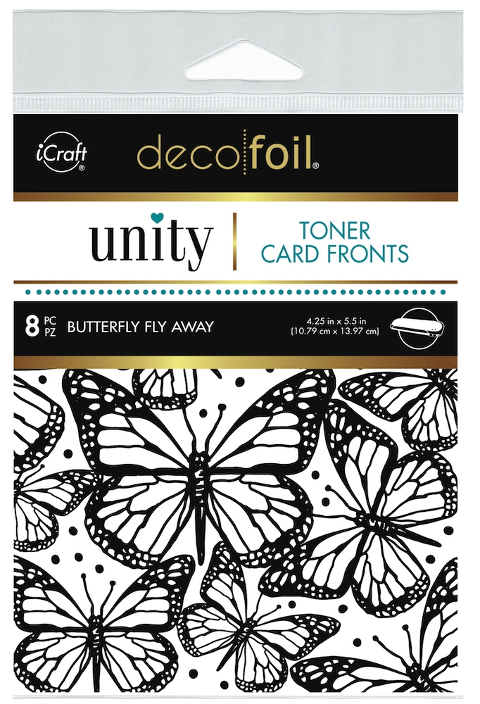 Therm O Web Unity BUTTERFLY FLY AWAY DecoFoil Toner Card Fronts 19047 zoom image
