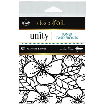 Therm O Web Unity FLOWERS AND LINES DecoFoil Toner Card Fronts 19048