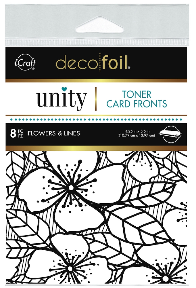 Therm O Web Unity FLOWERS AND LINES DecoFoil Toner Card Fronts 19048 zoom image