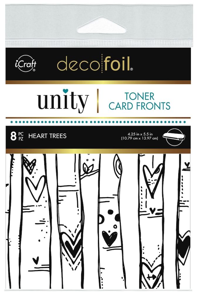 Therm O Web Unity HEART TREES DecoFoil Toner Card Fronts 19049 zoom image