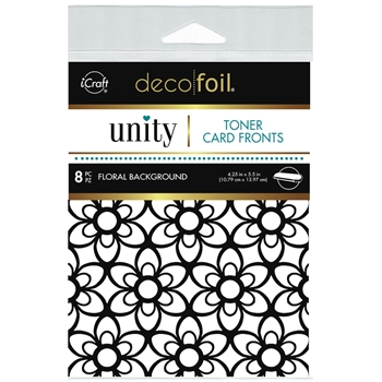 Therm O Web Unity FLORAL BACKGROUND DecoFoil Toner Card Fronts 19050