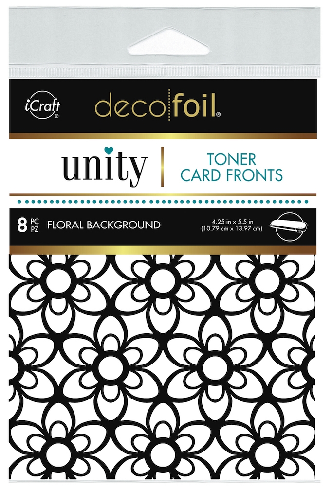 Therm O Web Unity FLORAL BACKGROUND DecoFoil Toner Card Fronts 19050 zoom image