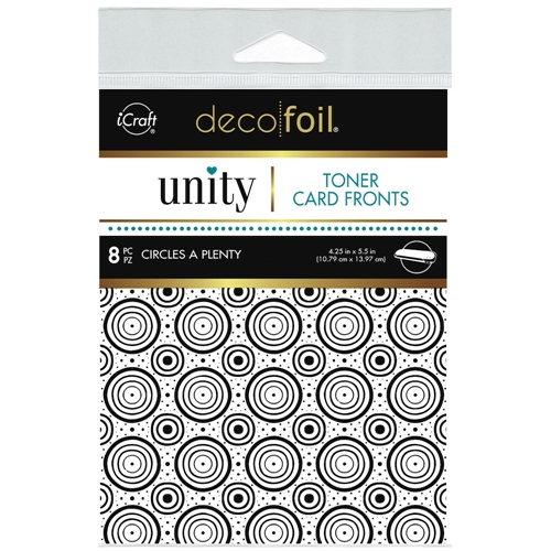 Therm O Web Unity CIRCLES A PLENTY DecoFoil Toner Card Fronts 19051 Preview Image