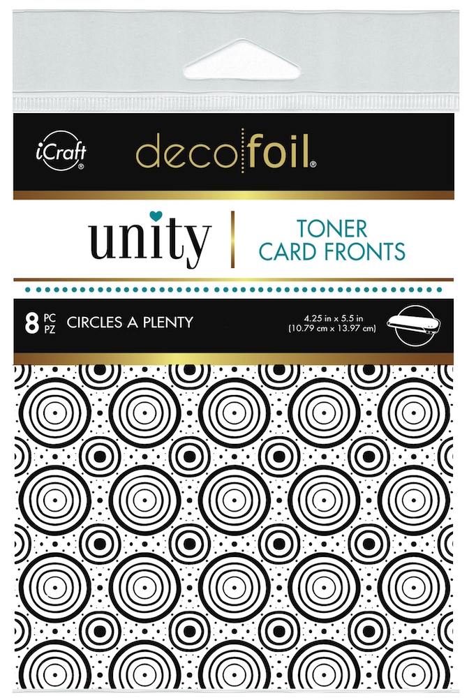 Therm O Web Unity CIRCLES A PLENTY DecoFoil Toner Card Fronts 19051 zoom image