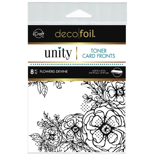 Therm O Web Unity FLOWERS DEVINE DecoFoil Toner Card Fronts 19502 Preview Image