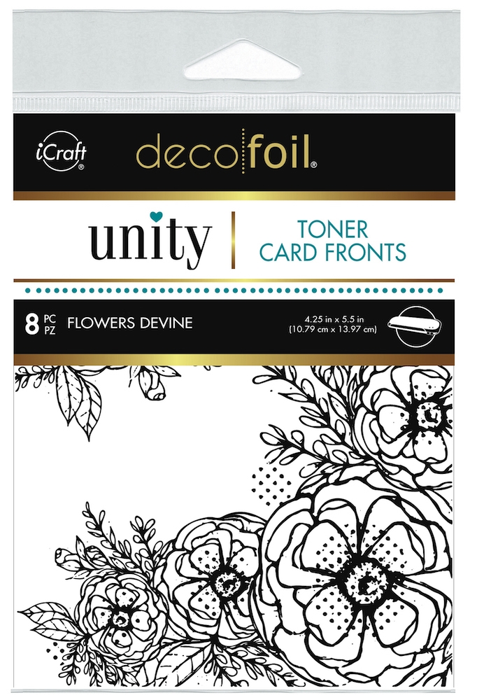 Therm O Web Unity FLOWERS DEVINE DecoFoil Toner Card Fronts 19502 zoom image