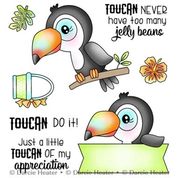 Darcie's TOUCAN DO IT Clear Stamp Set pol454
