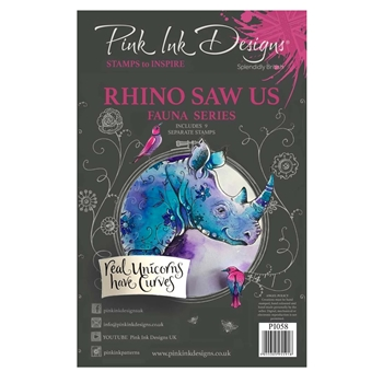 Pink Ink Designs RHINO SAW US A5 Clear Stamps pi058