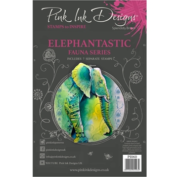 Pink Ink Designs ELEPHANTASTIC A5 Clear Stamps pi060