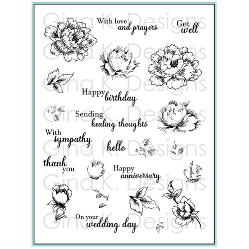 Gina K Designs STIPPLED FLOWERS Clear Stamps 4471 Preview Image