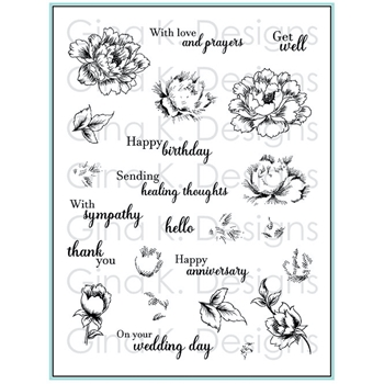 Gina K Designs STIPPLED FLOWERS Clear Stamps 4471