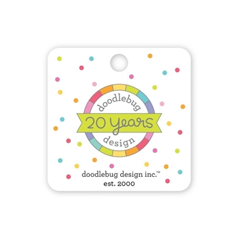Doodlebug 20TH BIRTHDAY Collectable Enamel Pin 6534