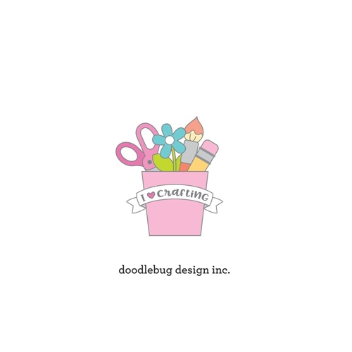 Doodlebug I LOVE CRAFTING Collectable Enamel Pin 6557 Preview Image