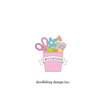 Doodlebug I LOVE CRAFTING Collectable Enamel Pin 6557