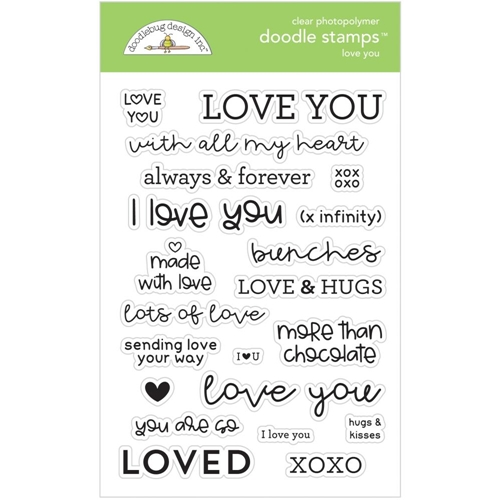 Doodlebug LOVE YOU Clear Stamps 6733 Preview Image