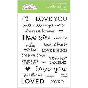 Doodlebug LOVE YOU Clear Stamps 6733