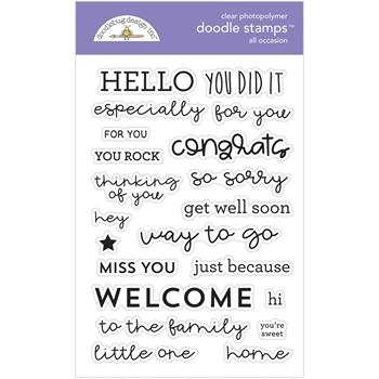 Doodlebug ALL OCCASION Clear Stamps 6735