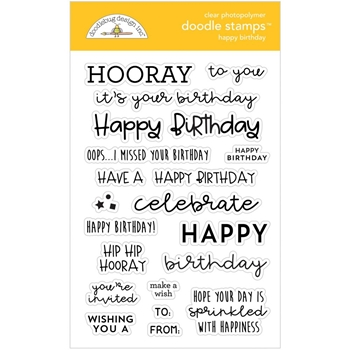 Doodlebug HAPPY BIRTHDAY Clear Stamps 6732