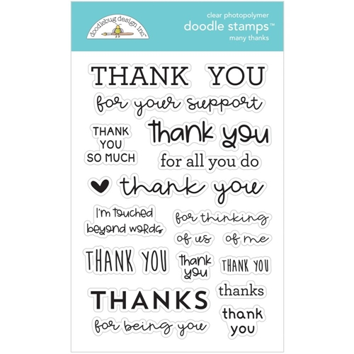 Doodlebug MANY THANKS Clear Stamps 6734 Preview Image