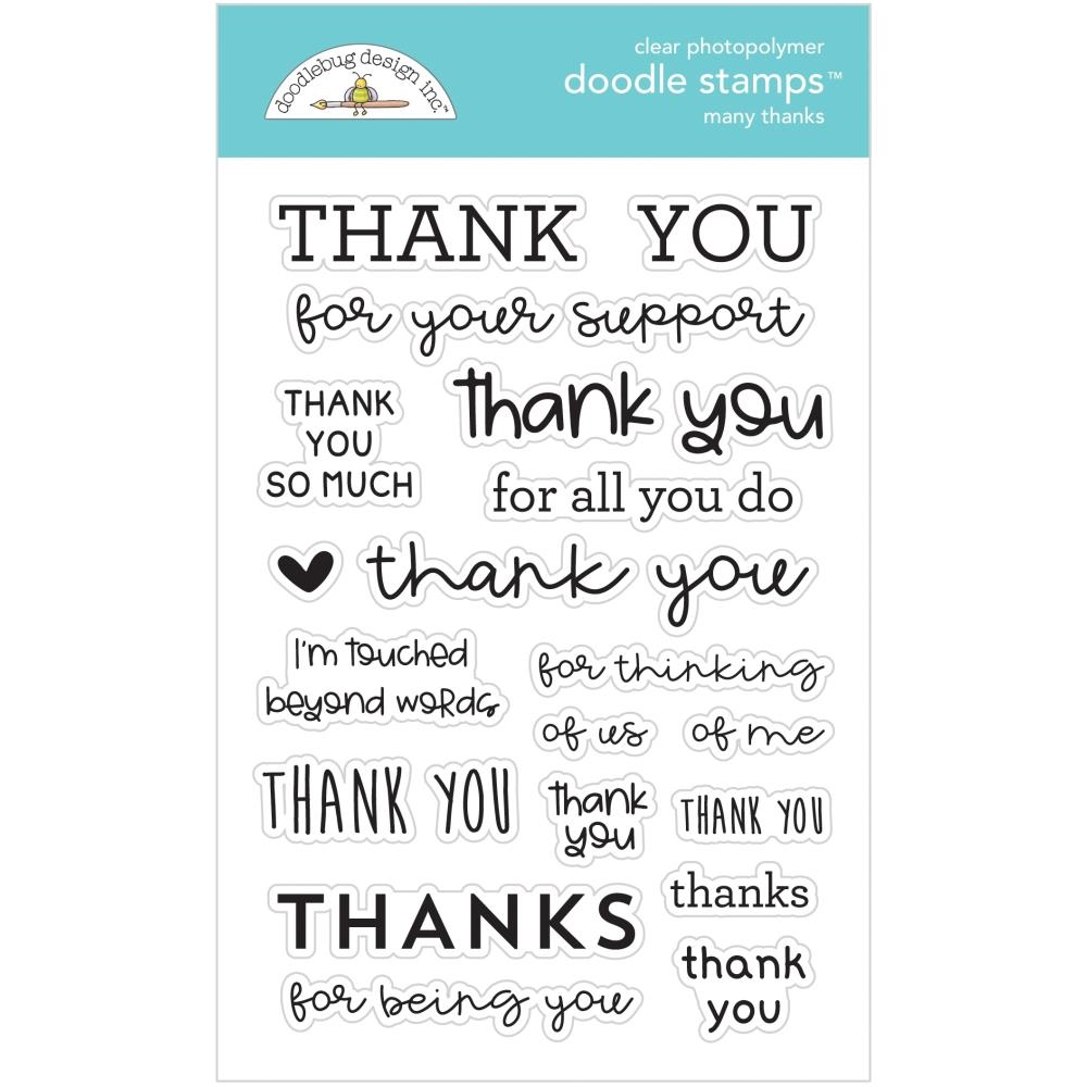 Doodlebug MANY THANKS Clear Stamps 6734 zoom image