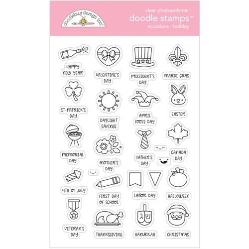 Doodlebug HOLIDAY OCCASIONS Clear Stamps 6728 Preview Image