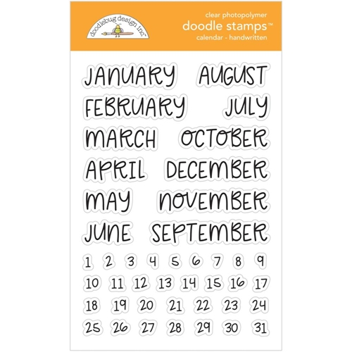 Doodlebug HANDWRITTEN CALENDAR Clear Stamps 6731 Preview Image