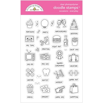 Doodlebug EVERYDAY OCCASIONS Clear Stamps 6729