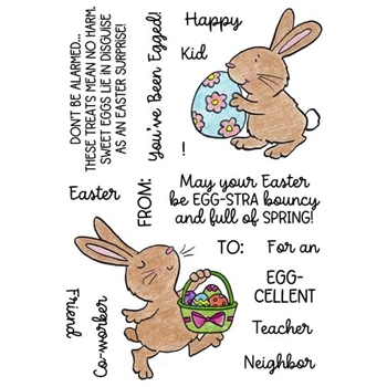 Inky Antics EGGY BUNNIES Clear Stamp Set 11494mc*