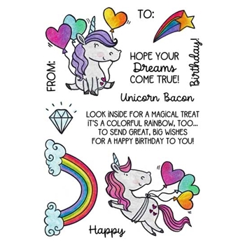 Inky Antics UNICORN BIRTHDAY Clear Stamp Set 11496mc