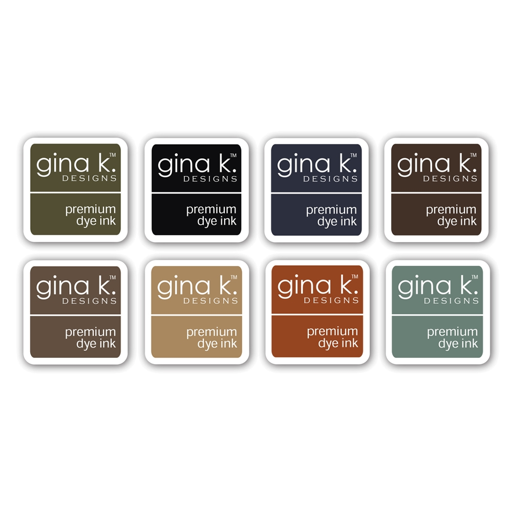 Gina K Designs NEUTRAL Premium Dye Ink Cube Assortment 8356 zoom image