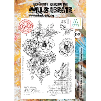 AALL & Create BLOOMING POPPIES 265 A4 Clear Stamps aal00265