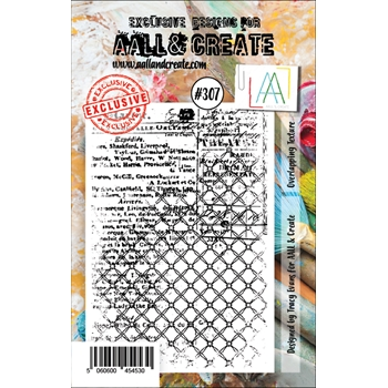 AALL & Create OVERLAPPING TEXTURE Clear Stamp aal00307