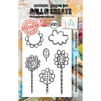 AALL & Create FLOWERS AND SUNSHINE Clear Stamps aal00301