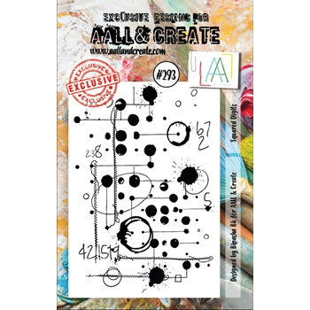 AALL & Create SQUARED DIGITS Clear Stamp aal00293