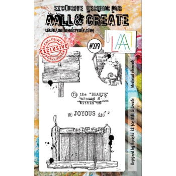 AALL & Create MEDIEVAL ELEMENTS 279 A6 Clear Stamps aal00279