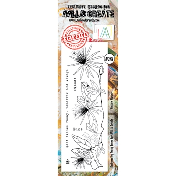 AALL & Create PASSION FLOWER BORDER Clear Stamps aal00278