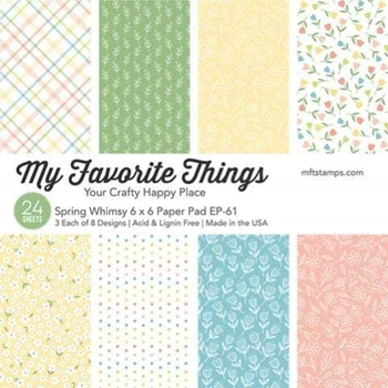 My Favorite Things SPRING WHIMSY 6x6 Inch Paper Pad 4644