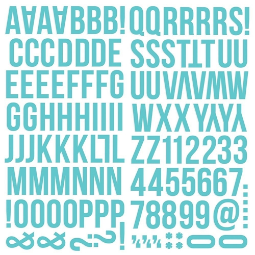 Simple Stories TEAL Color Vibe Alpha Stickers 13435 Preview Image