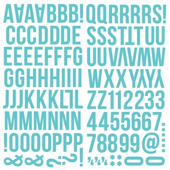 Simple Stories TEAL Color Vibe Alpha Stickers 13435