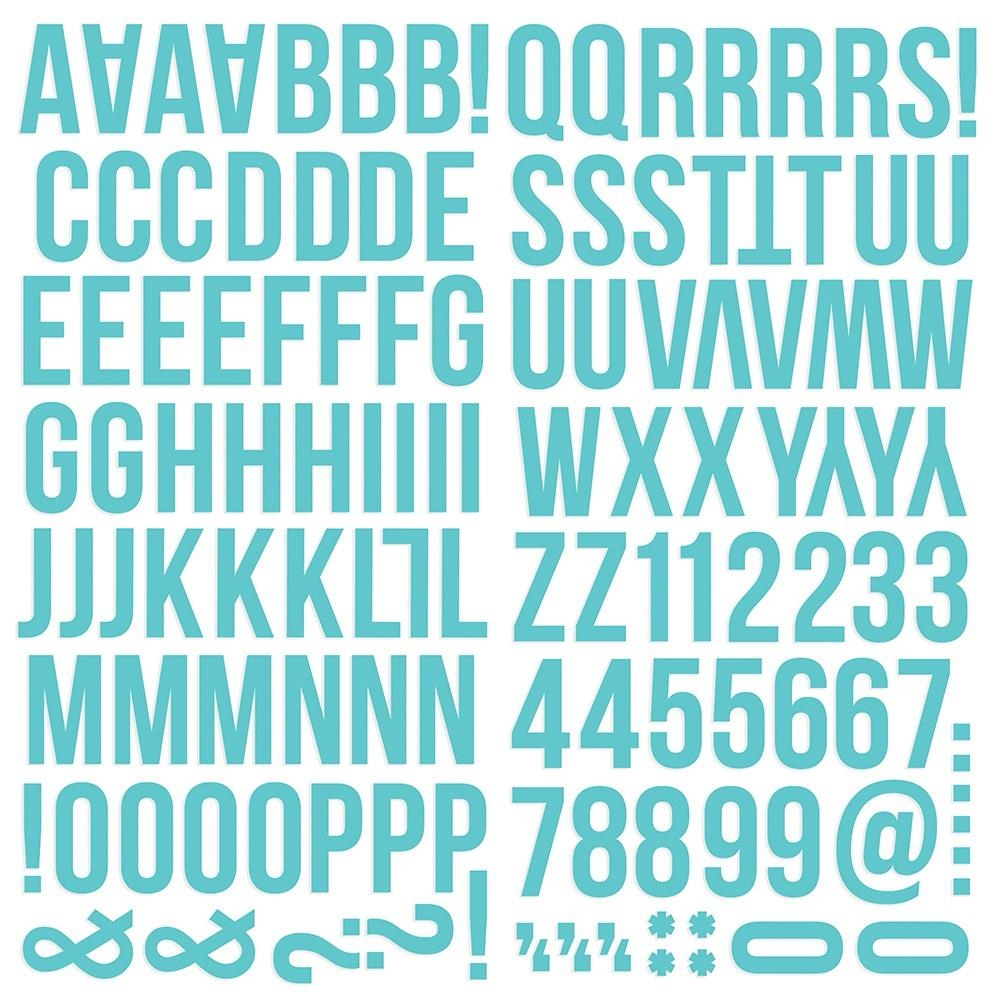 Simple Stories TEAL Color Vibe Alpha Stickers 13435 zoom image