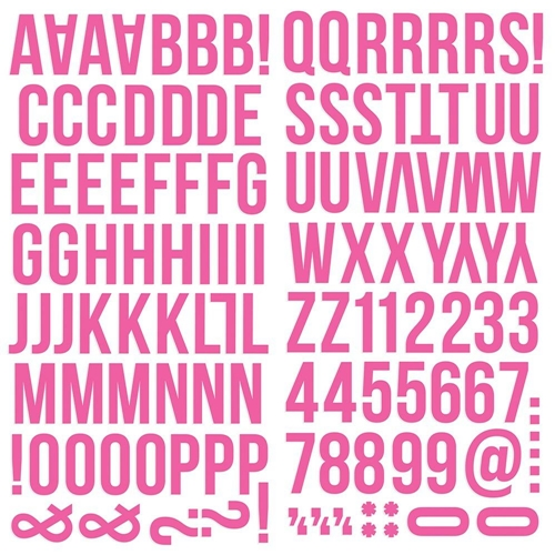 Simple Stories PINK Color Vibe Alpha Stickers 13436 Preview Image